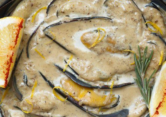Мидии черноморские под соусом