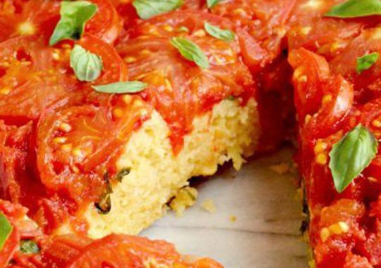 Европейская кухня: клафути с вишней, пирог с помидорами и фаршированные кальмары